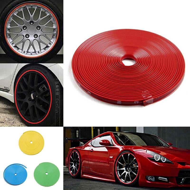 8M 자동차 트럭 휠 림 프로텍터 타이어 가드 라인 고무 몰딩 장식