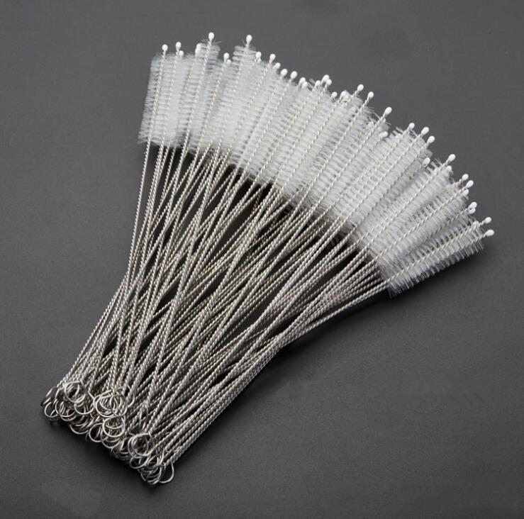 200*50*10mm Stainless Steel Wire Straw Cleaner Cleaning Brush Straws Cleaning Brush Bottle Brush Epacket Free