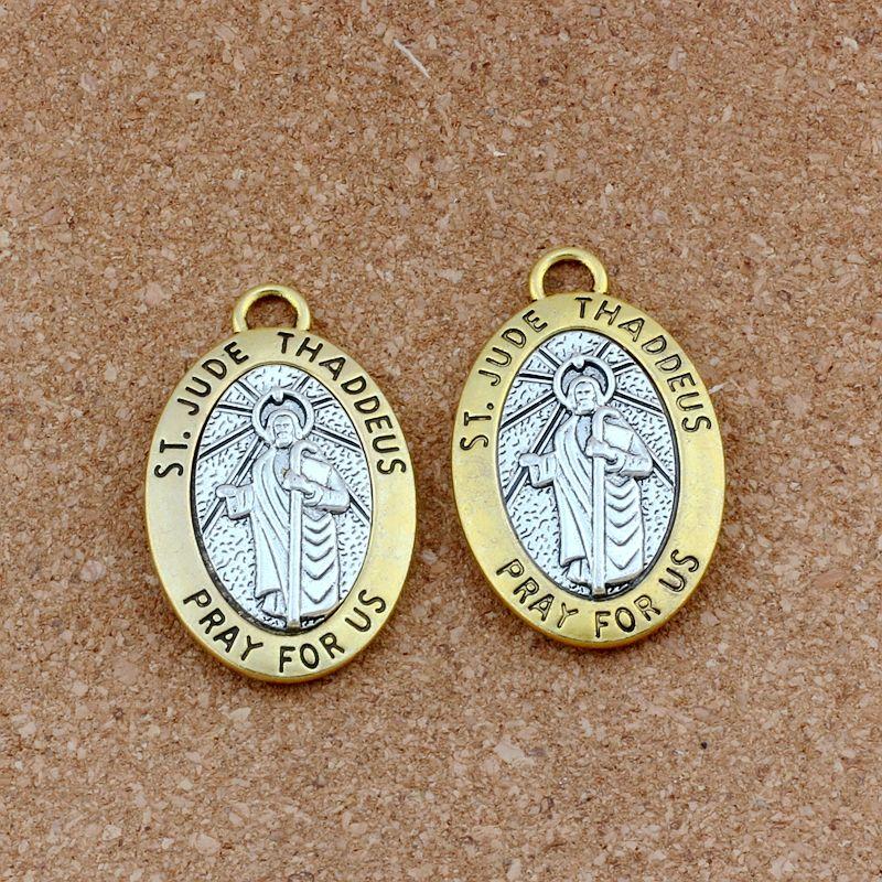 سانت جودي ثاديوس نصلي من أجل سبيكة سحر المعلقات 10 قطعة / الوحدة الأزياء diy مجوهرات 29.5x47.5 ملليمتر A-550
