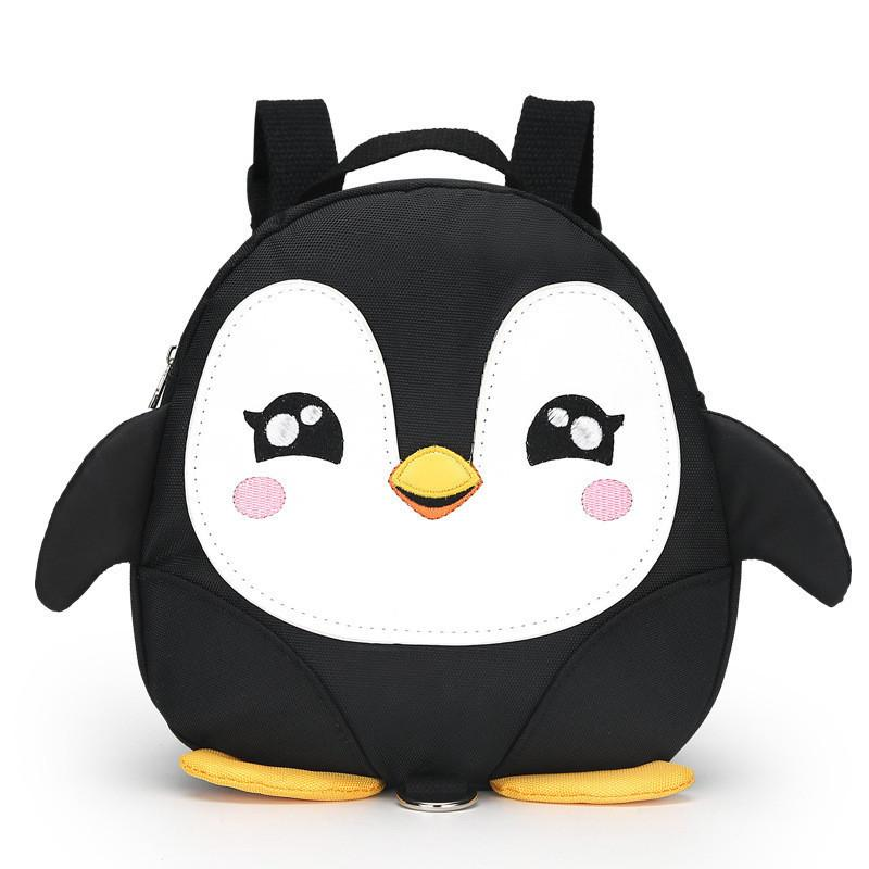 Cartoon Penguin Mini Waterproof Schoolbags Anti-Lost Child Kid Backpack Cute 1pc