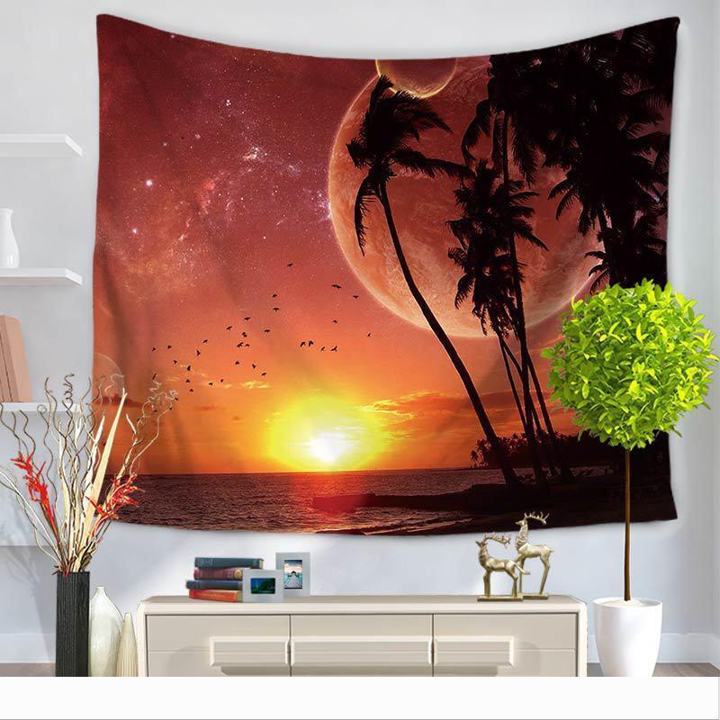 태피스트리 여름 해변 벽걸이 비치 타월 담요 일 증명 폴리 에스테르 태피스트리 홈 룸 장식 핫 판매 25my2의 GG