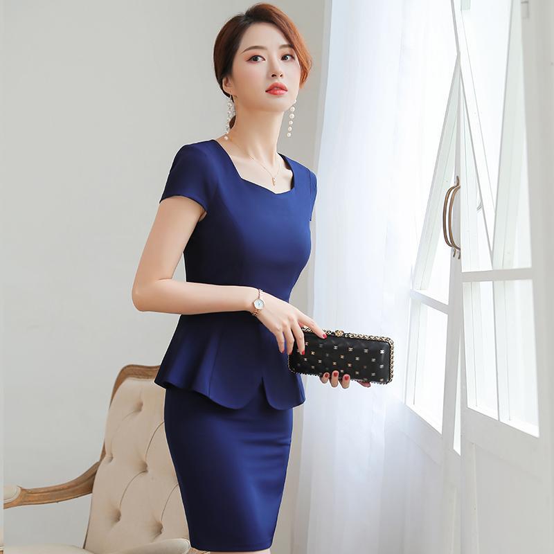 Yaz yeni iş kıyafetleri bayan takım elbise kısa kollu küçük takım elbise ceket Will K