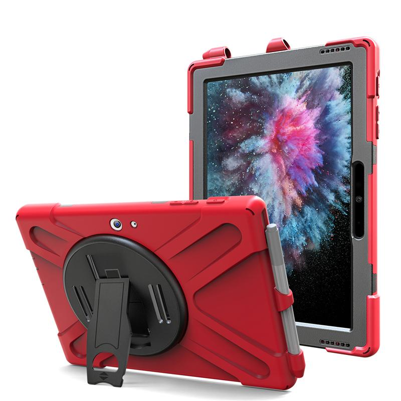"""3 in 1 For Apple ipad 9.7"""" 2017/2018 pro 10.5 Samsung Tab active2 8.0 T390/T395/T397 Surface Pro 456 Surface go Silicone Case Shockproof"""