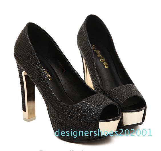 talons plate-forme de peep toe blanc ivoire élégant hautes pompes taille de chaussures de mariage de demoiselle d'honneur mariée 34 à 40 01D