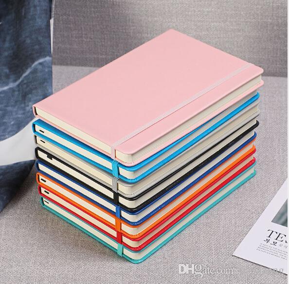 SıCAK Ücretsiz kargo ToptanA5 elastik bant kayışı dizüstü yaratıcı kırtasiye iş dizüstü sipariş özel 2019 not defteri günlüğü