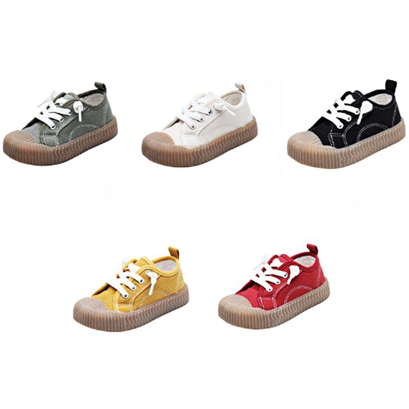 sapatas de lona novas crianças 2020 primavera e verão coreano meninos e meninas calçados infantis lavado biscuit lona