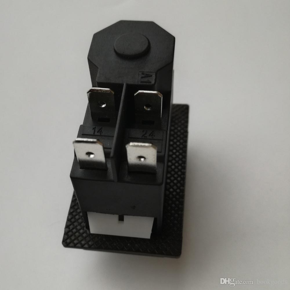 Freeshipping KJD16 / 120V 4pins étanche électromagnétique sous tension Touche MISE EN MARCHE bouton-poussoir pour machines-outils