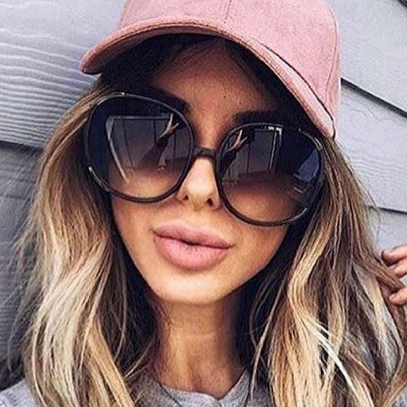 2020 Runde Maxi-Frauen-Sonnenbrille-Marken-Entwerfer-Damen Herren Klassische Kunststoff-Außen Gradient Mode Sonnenbrillen Uv400 LFXUr