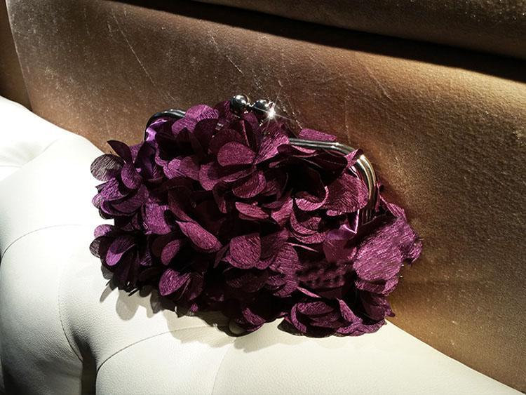 2017 handgemachte Blumenabend-Beutel-Hand gekräuselter Diamant Partei Handtaschen mit Kette Handtaschen-freien Verschiffen