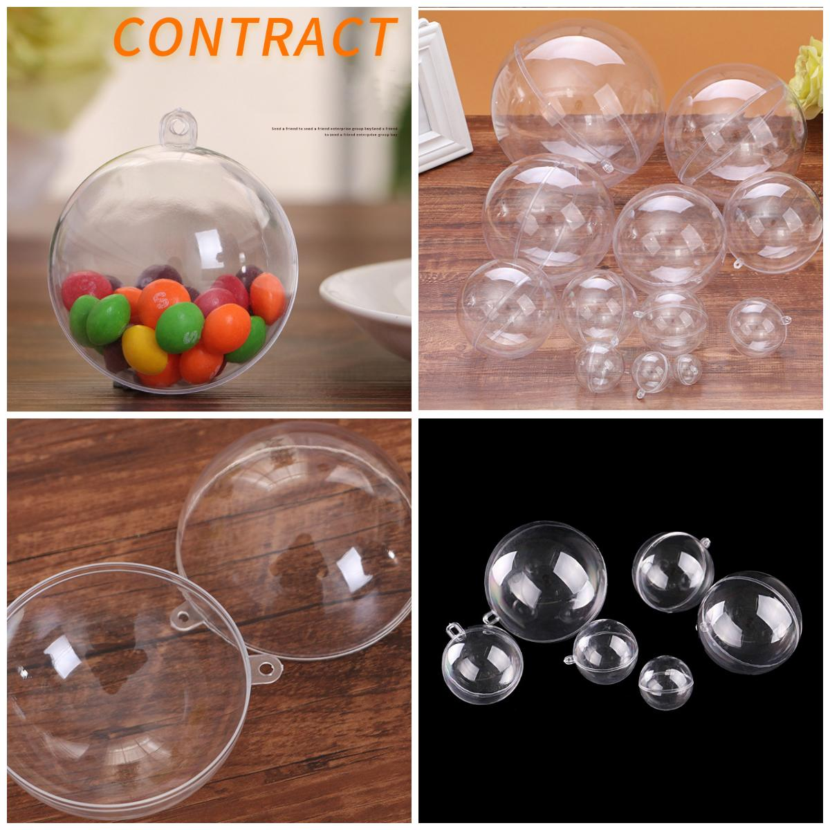 New 3cm-16cm high definition transparent ball festival decorations transparent ball plastic Christmas gift ball Gift decoration T3I5499