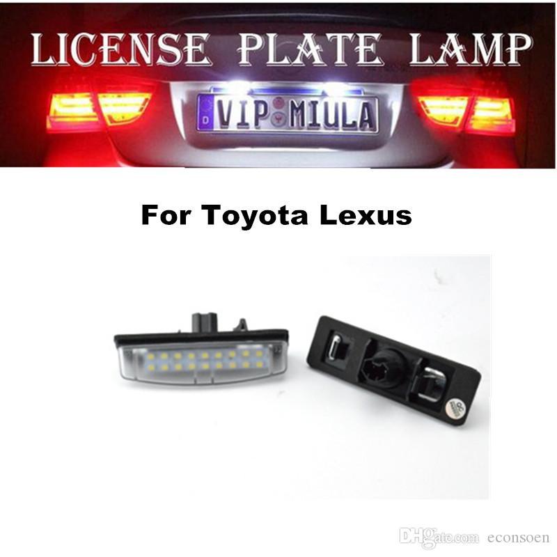 Plaka Lambası İçin Toyota Lexus Beyaz Renkli LED Işık Oto Aksesuarları İçin Lexus Boyut 96x31x43mm
