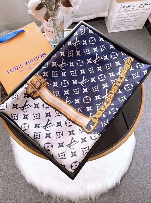 Mantón de seda genuino de marca popular de alta calidad con estampado clásico de mujer chal informal 190 * 80 cm playa