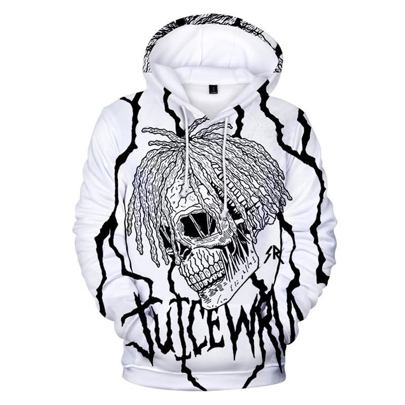 Сок Wrld 3D Мужские толстовки с длинным рукавом Экипаж шеи пуловер подросток с капюшоном Толстовки Hiphop Рэпер Мода Мужской Одежда