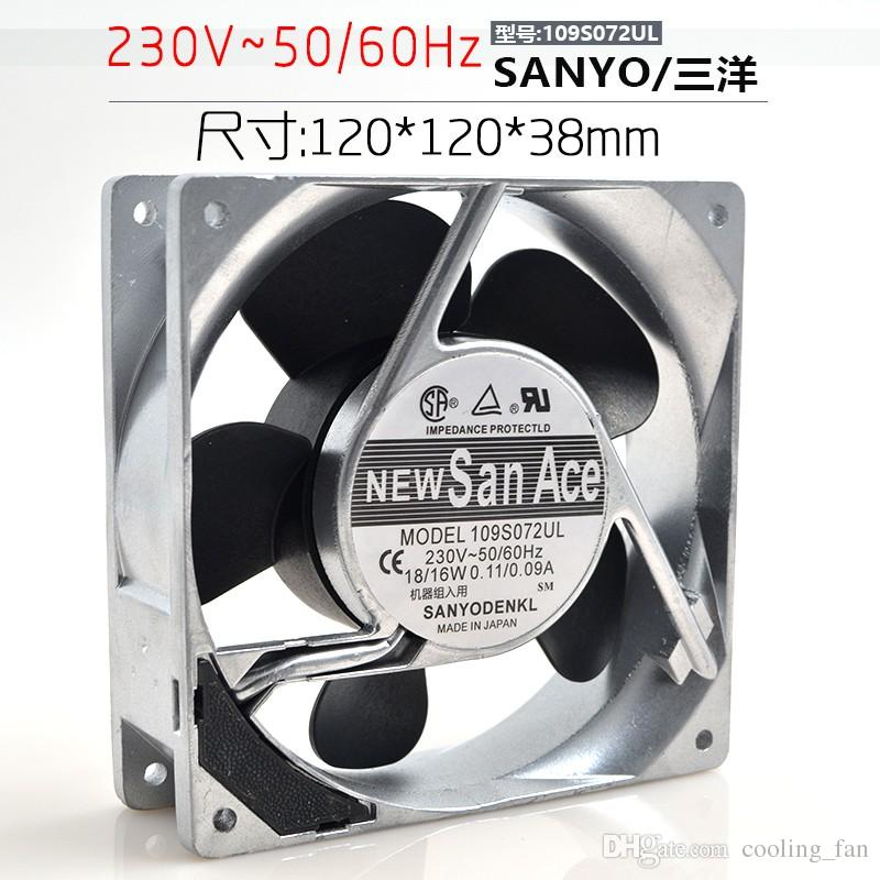 New original Sanyo 12CM 12038 220V imported heat dissipation fan 109S072UL