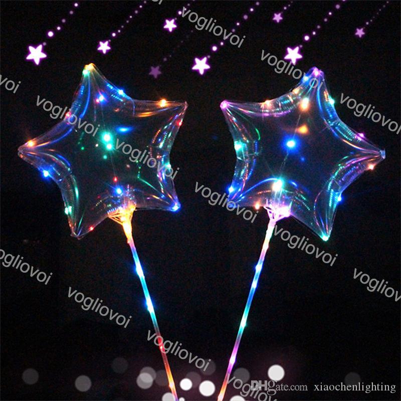 LED Strings piscando Forma de estrela do balão com barra de onda de vara 3m corda ilumina-se para o Natal Dia das Bruxas decoração de aniversário DHL
