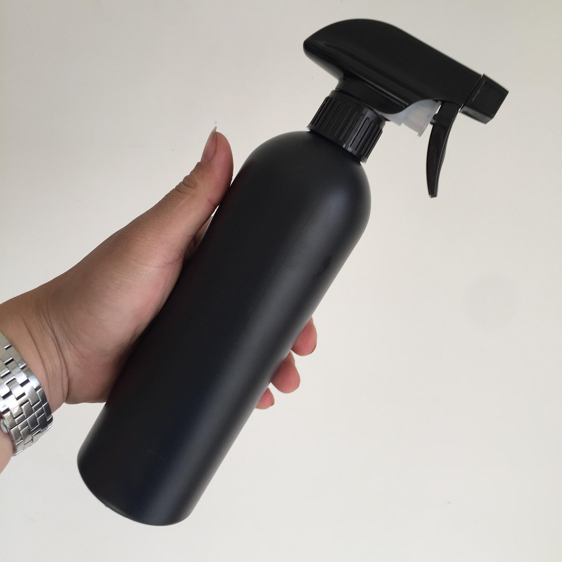 Todos 500ML pulverizar frasco plástico fivela mão frasco de spray garrafa de pulverização de limpeza do interior cilíndrico T3I5755 alta densidade preta