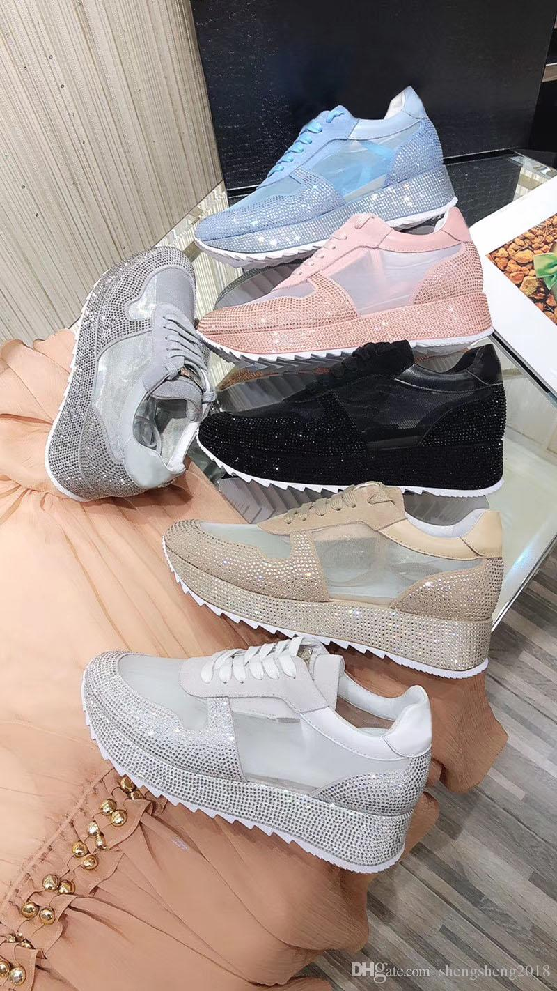2020 son yüksek uç tasarımcı ayakkabılar moda erkek ve kadın sıcak elmas kravat gündelik ayakkabı gerçek deri ayakkabı hafif ayakkabılar boyutu 35-41