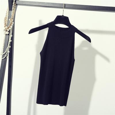 Pull en tricot pull 2019 robe d'été nouvelle version coréenne fronde cou, gilet coupe-épaules sans manches, musculation et bo