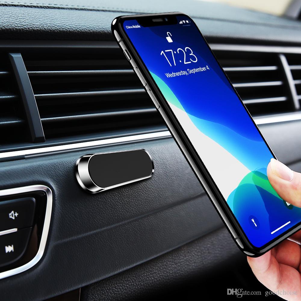 미니 스트립 모양 자석 자동차 전화 홀더 아이폰 삼성 샤오 미 벽 금속 자석 GPS 자동차 마운트 대시 보드 스탠드