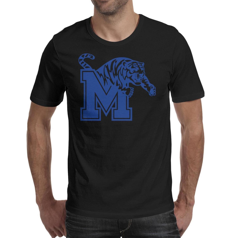 Мужская печать Мемфис Тигры баскетбол логотип черная футболка дизайн ретро друзья рубашки партия серый wordmark Мраморная печать сетка старый розовый