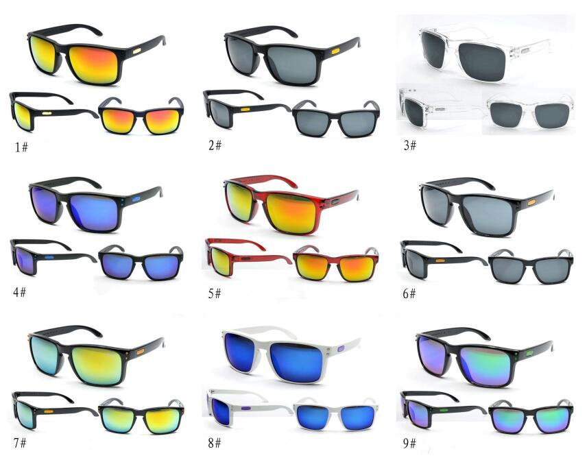 Occhiali da sole di lusso protezione UV400 9102 Sport Occhiali da sole donne degli uomini unisex Estate Ombra Eyewear di riciclaggio esterno di vetro di Sun 18 colori A0205