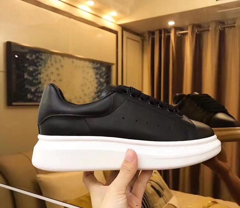 Sıcak satış-Bayan Erkek Beyaz Deri Platformu Ayakkabı Düz Casual Parti Düğün Ayakkabı eğitmenler Süet Spor Spor ayakkabılar