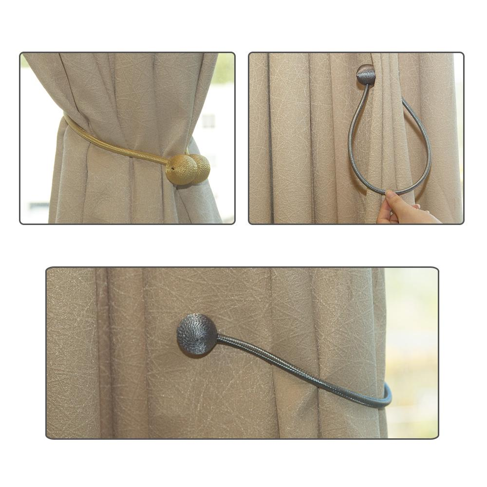 Magnetic Pearl Ball Curtain Tiebacks Tie Backs Holdbacks Buckle Clips Accessory Curtain Rods Accessoires Curtain Decorative
