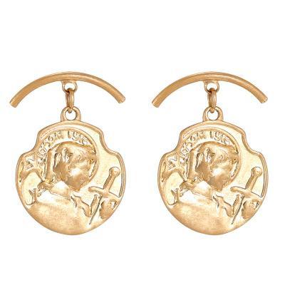 Orecchini perla ciondola gli orecchini delle donne dell'annata capo Orecchino modo di colore dell'oro per i monili del partito delle ragazze regalo
