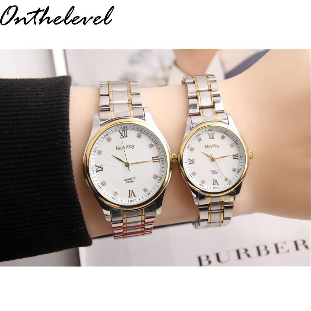 Подарки для мужчин часы Simple Elegant 12 римские цифры черные водонепроницаемые часы пара подарки для мужчин часы Pareja пара часы