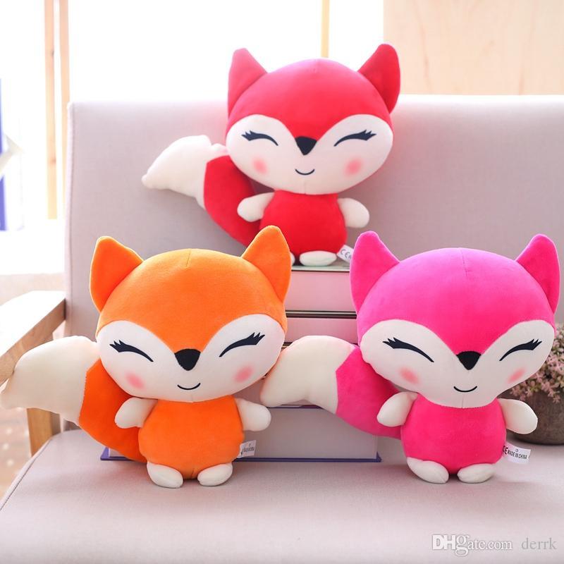 23cm Kawaii Dolls Stuffed Animals & Plush Toys for Girls Children Boys Toys Plush Pillow Fox Stuffed Animals Soft Toy Doll