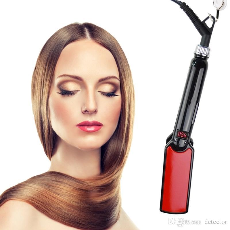 piastra professionale per capelli con piastra in ferro piatto PTC