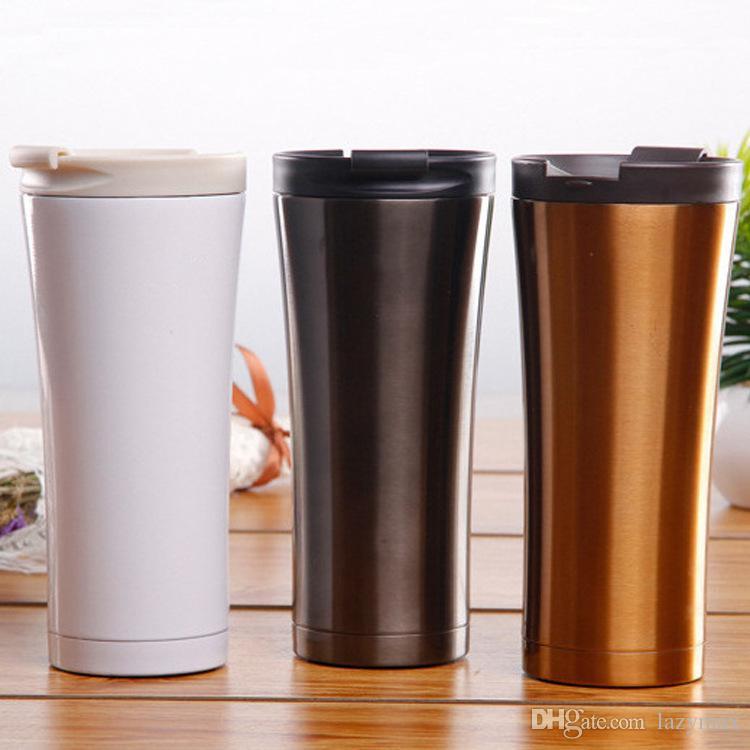 500 ML de Aço Inoxidável Garrafa de Café 3 Cores Parede Dupla de Vácuo caneca de Viagem Portátil Copo de Carro de Escritório Em Casa Drinkware Ferramentas 20 Peças DHL