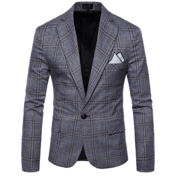 Mens Leisure Quality Roupas Estilo Britânico Casaco dos homens Personalidade Terno de Personalidade Negócios Alta Moda Masculino Blazer Plojg