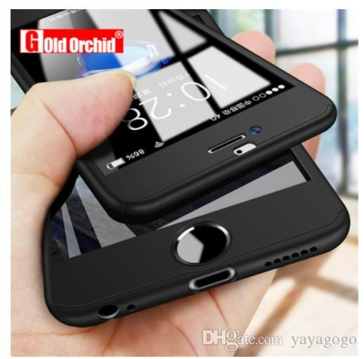360 funda de teléfono de cubierta completa para iPhone X 8 6 6s 7 Plus 5 5s SE PC funda protectora para iPhone 7 8 Plus funda con cristal
