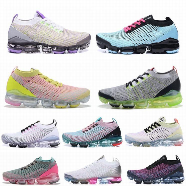Unisex EUR36-45 Женского Мужской Спорт на открытом воздух обувь Fly 3,0 Knit Тройных черных кроссовок дышащих Дизайнерские Спортивные тапки Трейнеры