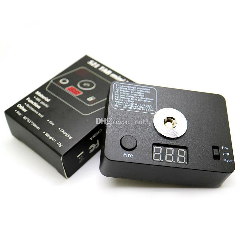 521 TAB mini V3 Nuovo tester di resistenza di Ohm Meter Led Coil fai da te filo di strumento Da E RDA RTA atomizzatore 510 Discussione riscaldamento fai da te filo Strumento