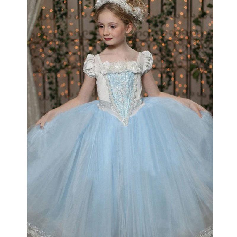 UK! Child Girls Dress Kids Party Wedding Flower Dress Fairytale Cosplay Costume
