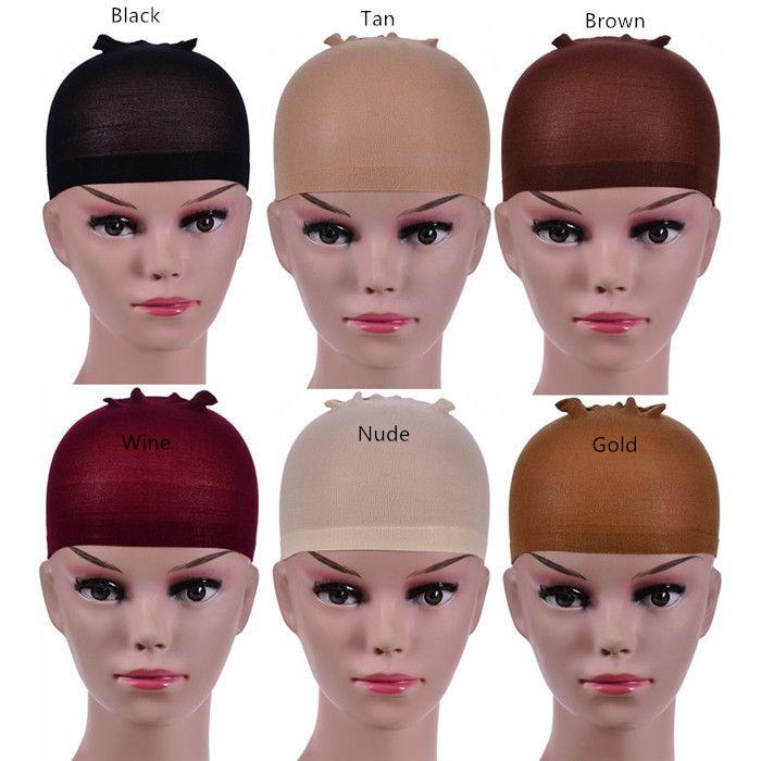 Парик высокого качества Cap Hairnet волос сетки парик 6 цветов ткачество Cap Эластичный Эластичный волос Чистая 2pcs / комплект 30sets