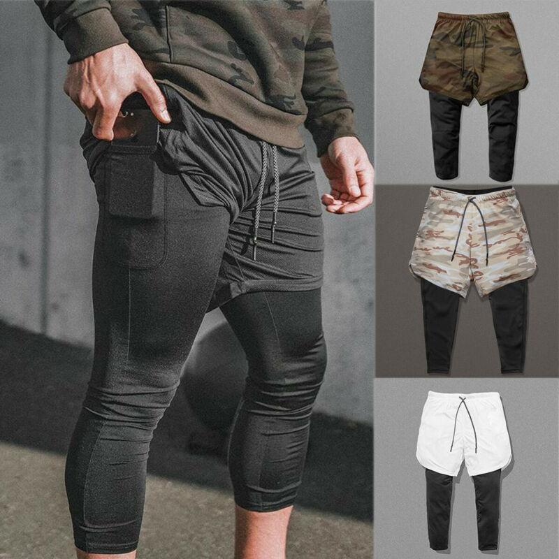Pantalones de hombre de nuevo estilo, forro deportivo, pantalones cortos de verano, pantalones deportivos, gimnasio, pantalones de chándal, flacos y sólidos con bolsillo