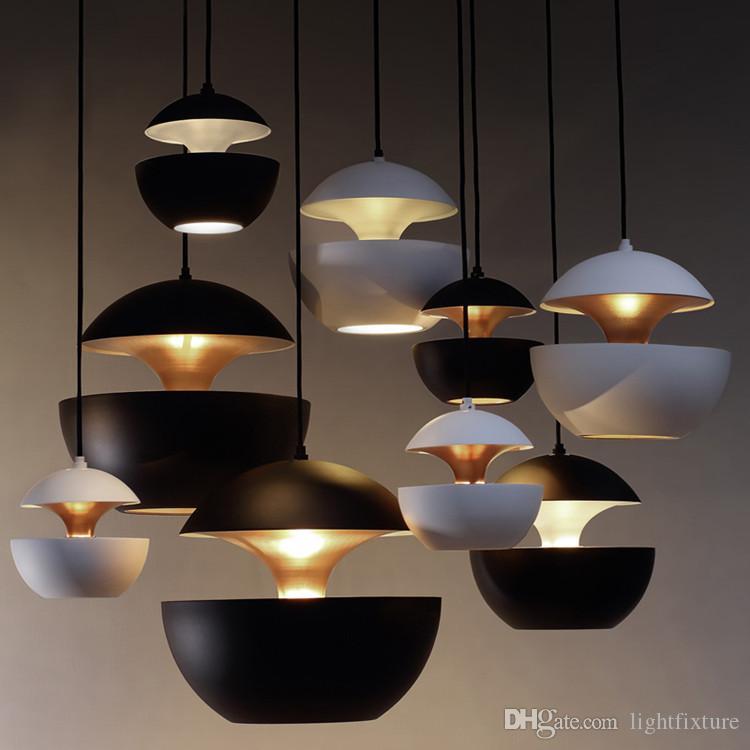 Creative Personality Designer Pendant Lamps Metal Apple Shape Light Fixture for Cafe Restaurant Modern Minimalist Bedroom Bedside Lamp