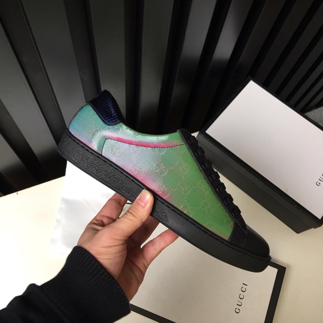 Heißer Verkauf !!! 2019 neue Ankunfts-Art- Laser Männer Schuhe mit Top-Qualität aus echtem Leder flache bequeme Art und Weise Turnschuhe schnüren sich oben 38-45