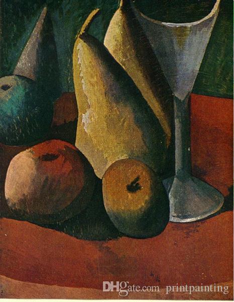 Pablo Picasso Pintura al óleo clásica frutos de vidrio y Verre Et Frutas 100% hechas a mano del pintor experimentado En Blanco Picasso282 lienzo