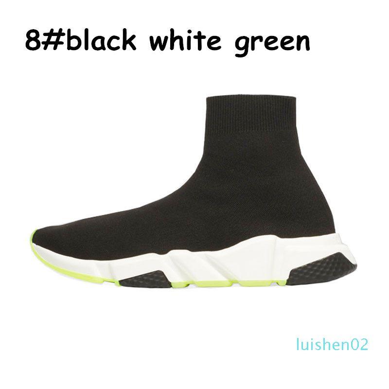 Beyaz Düz Moda mens bule üçlü Çorap Kırmızı 2020 Tasarımcı Ayakkabı Hız Eğitmen platformu Günlük spor Spor ayakkabılar moda L02 womens