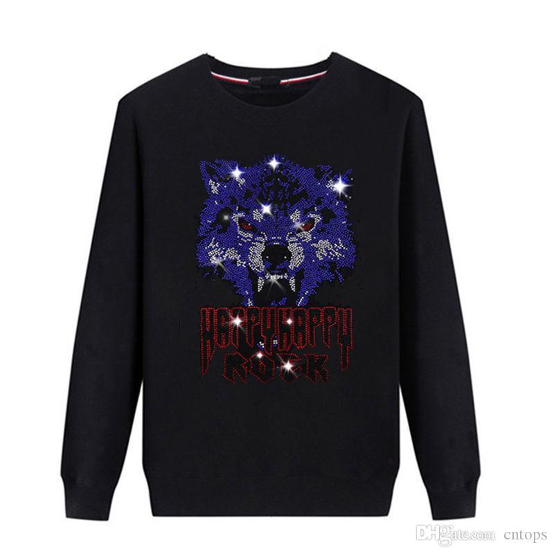 Толстовки Новая Коллекция Весна Осень Мода Мужской Большой Размер Пальто Мужчины Горячий сверлильный свитер a03