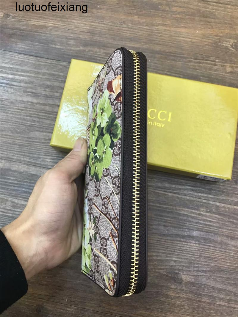 para kartları ve paraları ünlü tasarım erkek deri çanta kart sahibinin uzun iş C17 taşımak 9GXN Single fermuar CÜZDAN şık yolu