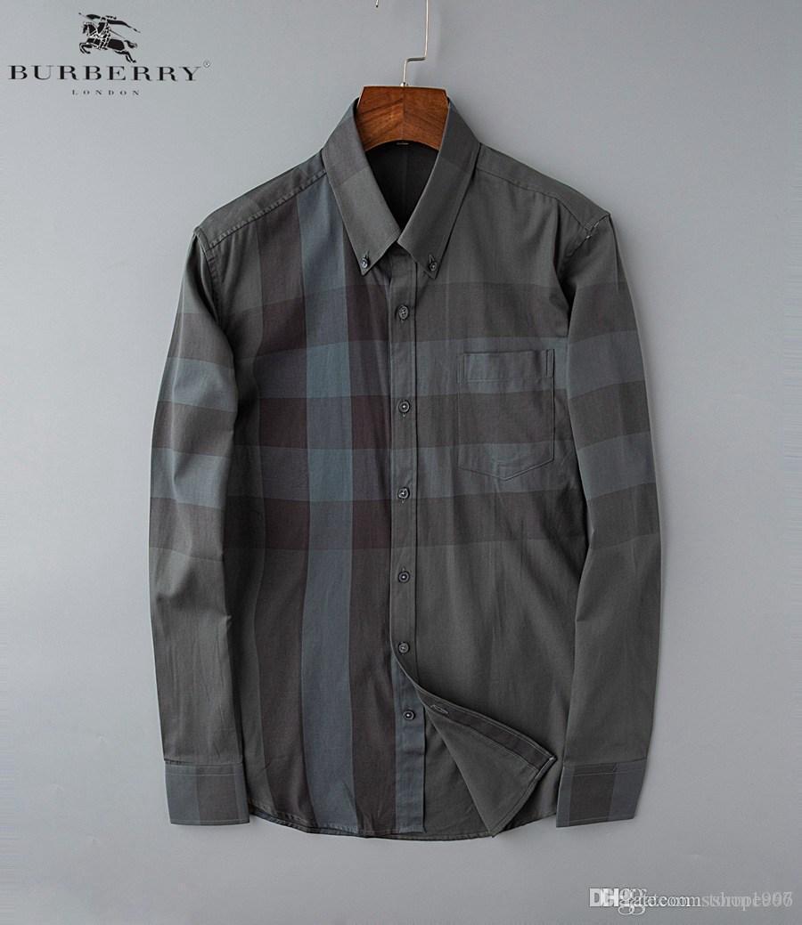 Hommes luxe Chemises Bees mode brodé robe à manches longues Chemises Marque classique Turn Down Neck affaires Tops121