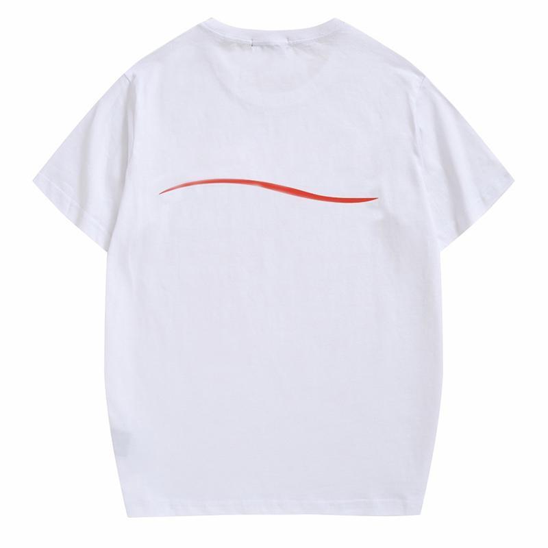 19SS 유명한 남성 T 셔츠 폴로 고품질 남성 여성 커플 캐주얼 짧은 소매 남성 라운드 넥 스타일리스트 티셔츠 4 색