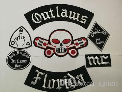 Nuovi Fuorilegge patch ricamato il ferro sul Biker patch per il rivestimento del motociclo Vest Patch Vecchio Rider Outlaws MC Patch badge Stocker