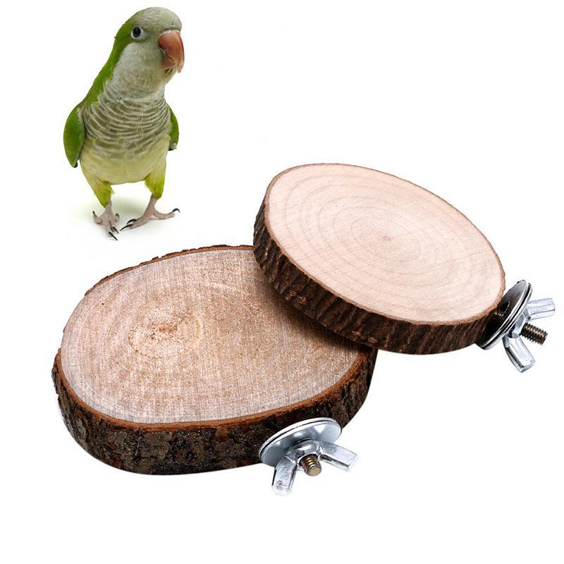 Toys Pet Bird Parrot Chew Toy Wooden Hanging Swing Birdcage Parakeet Cockatiel Cages Bird Toys