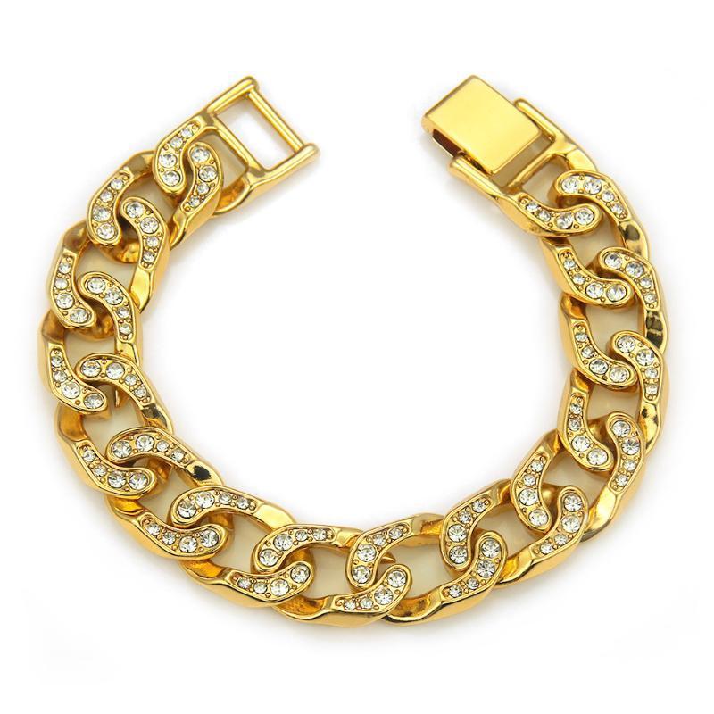 020 внешняя торговля хип-хоп украшения с мужской кубинской цепи золотой браслет прохладный ночной клуб мода ювелирные изделия